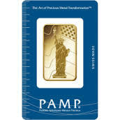 1 ounce liberty Gold Bar - PAMP