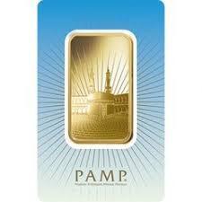 1 ounce religious (Ka'Bah, Mecca) Gold Bar - PAMP