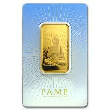 1 ounce religious Buddha Gold Bar - PAMP
