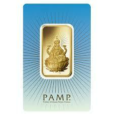 1 ounce religious Lakshmi Gold Bar - PAMP