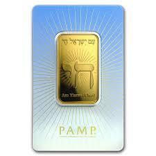 1 ounce religious Am Yisrael Chai! Gold Bar - PAMP