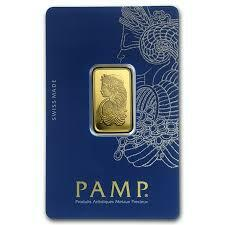 10 ounces fortuna Gold Bar - PAMP