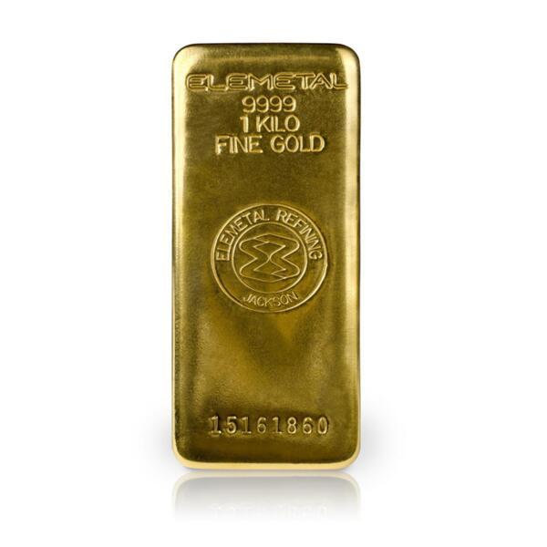 1 kilogram Elemetal Refining LLC Gold Bar - Elemetal Refining LLC