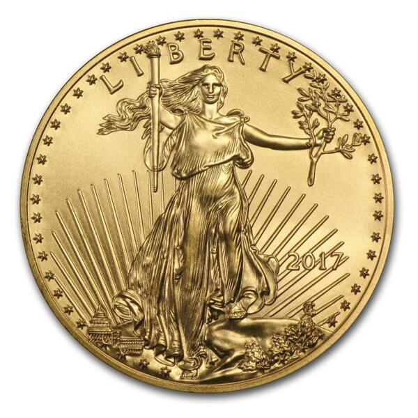 1 ounce Gold American Eagle - Roll of 10 - 2017 - US Mint