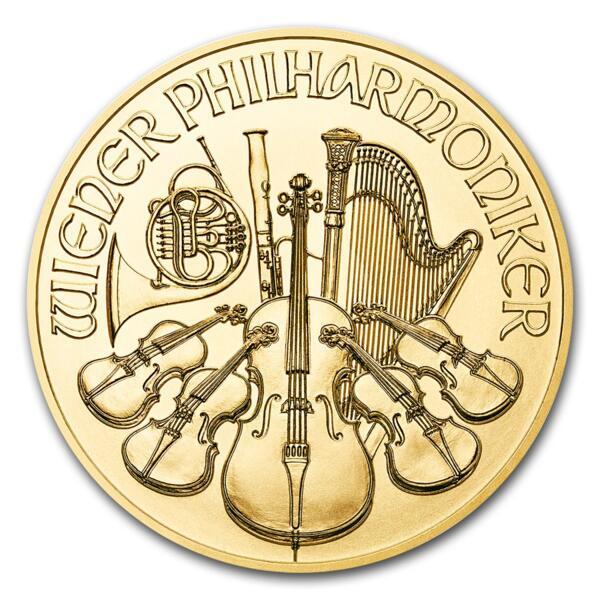 1 ounce Gold Philharmonic - Roll of 10 - 2017 - Austrian Mint