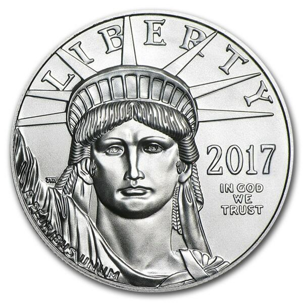 1 ounce Platinum American Eagle - Roll of 10 - 2017 - US Mint