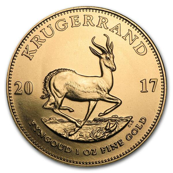 1 ounce Gold Krugerrand - Roll of 10 - 2017 - South African Mint