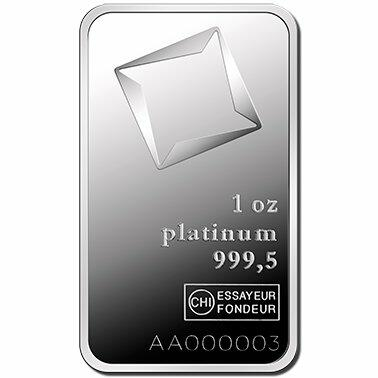 1 ounce  Platinum Bar - Valcambi