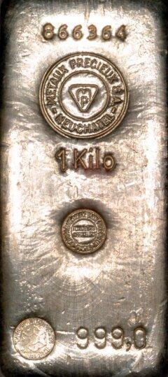 1 kilogram  Gold Bar - Compagnie des Métaux Précieux