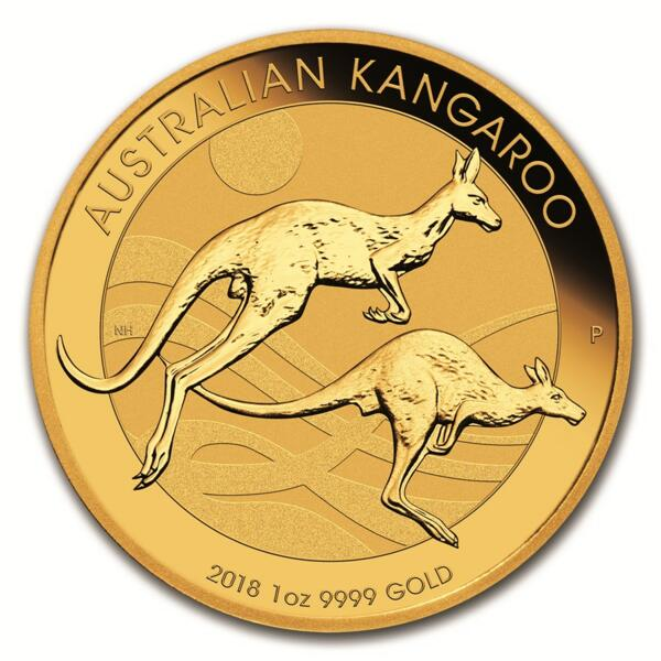 1 ounce Gold Kangaroo - Roll of 10 - 2018 - Perth Mint