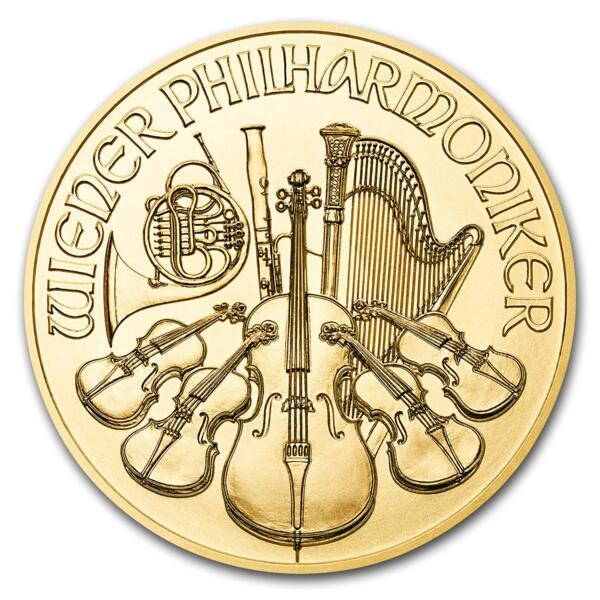 1 ounce Gold Philharmonic - Roll of 10 - 2018 - Austrian Mint