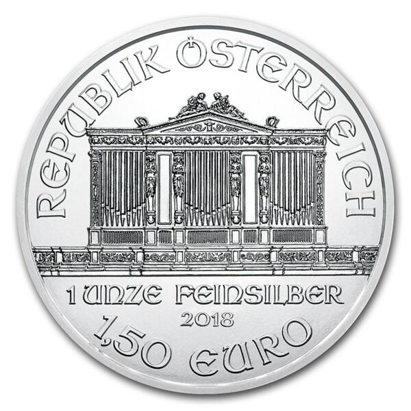 1 ounce Silver Philharmonic - Monster box of 500 - 2018 - Austrian Mint