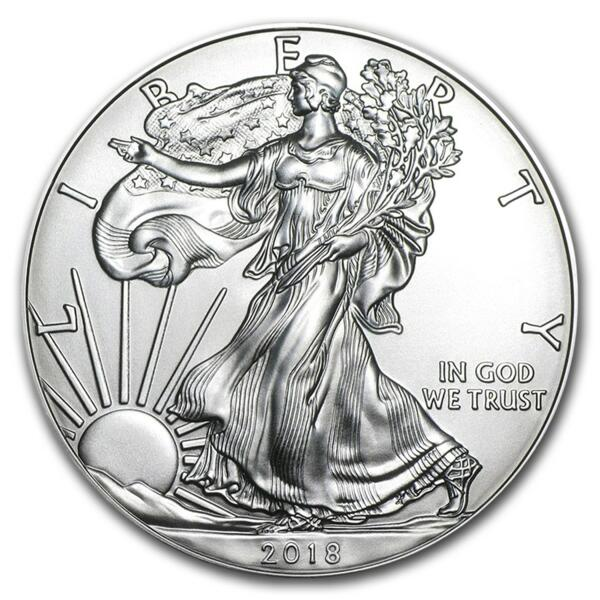 1 ounce Silver American Eagle - Monster box of 500 - 2018 - US Mint