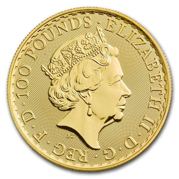 1 ounce Gold Britannia - Roll of 10 - 2018 - The Royal Mint