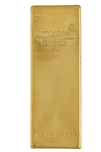 12.5 kilograms  Gold Bar - Umicore