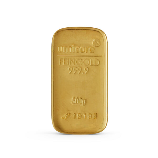 500 grams  Gold Bar - Umicore