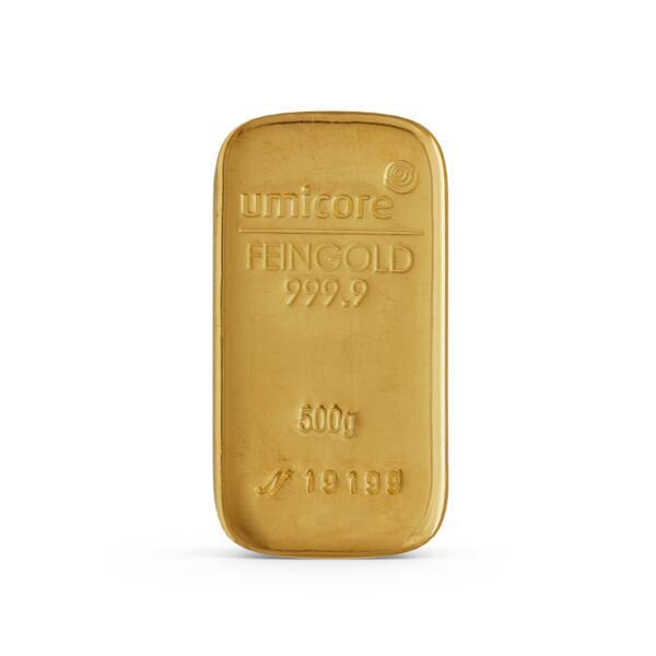 500 grams  Gold Bar - Umicore