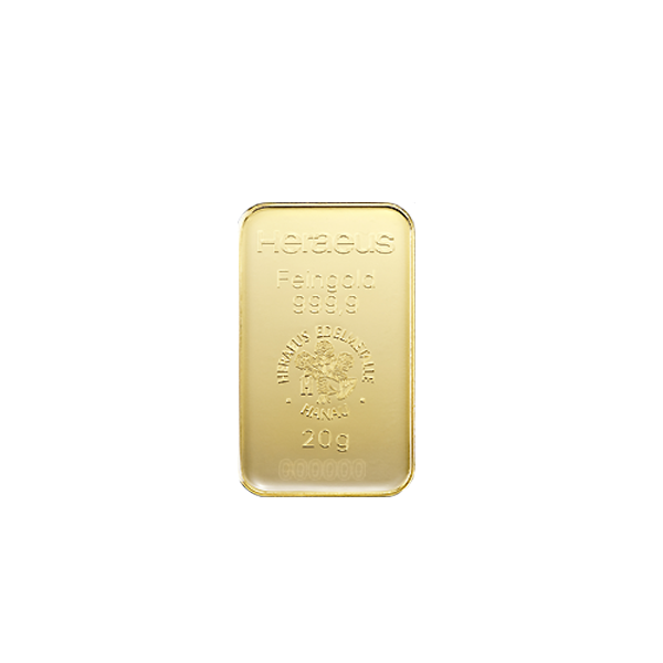20 grams  Gold Bar - Heraeus
