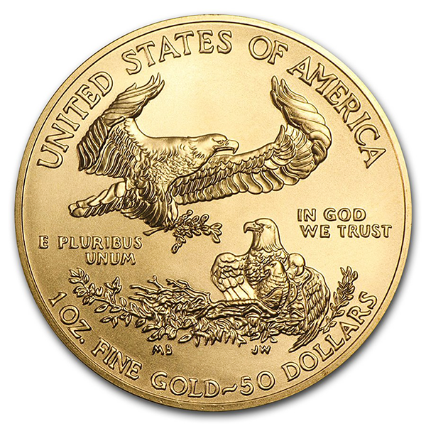 1 ounce Gold American Eagle - Roll of 10 - 2019 - US Mint