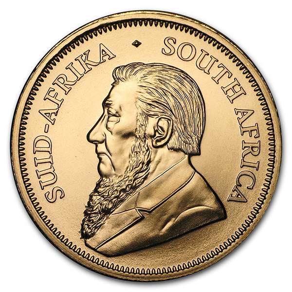 1 ounce Gold Krugerrand - Roll of 10 - 2019 - South African Mint