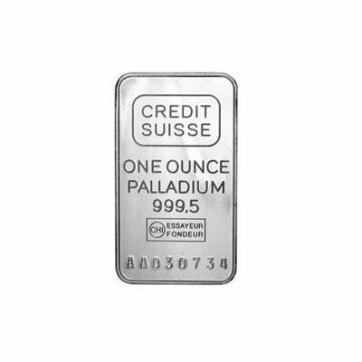1 ounce  Palladium Bar - Crédit Suisse