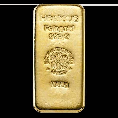 1 kilogram  Gold Bar - Heraeus