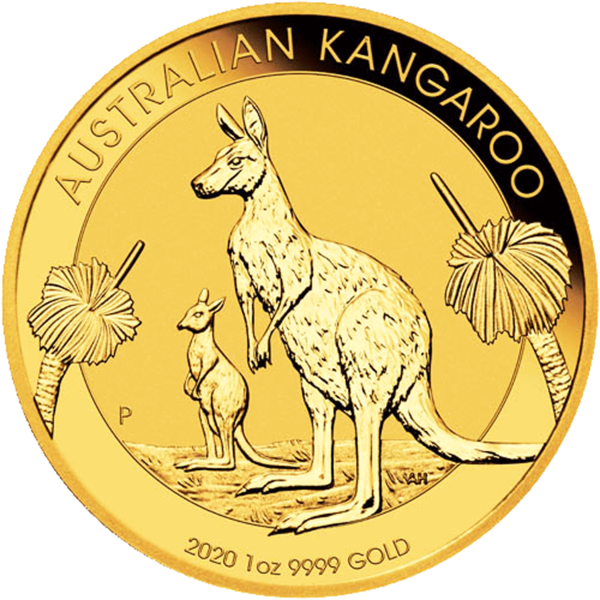 1 ounce Gold Kangaroo - Roll of 10 - 2020 - Perth Mint