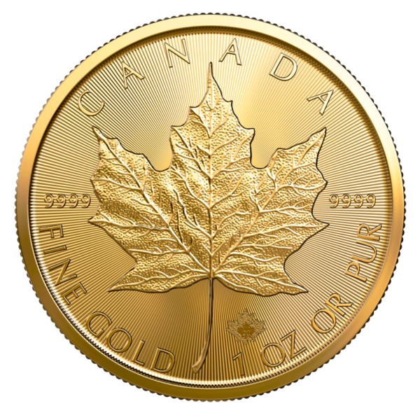 1 ounce Gold Maple Leaf - Roll of 10 - 2020 - Royal Canadian Mint