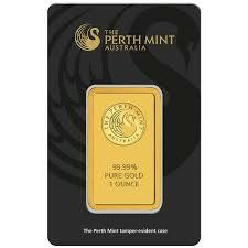 1 ounce  Gold Bar - Perth Mint