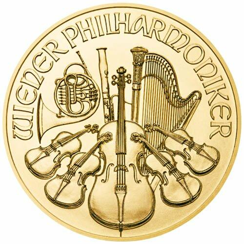 1 ounce Gold Philharmonic - Roll of 10 - 2021 - Austrian Mint