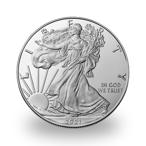 1 ounce Silver American Eagle - Monster box of 500 - 2021 - US Mint
