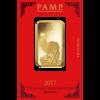 1 ounce Lunar Rooster Gold Bar - 2017 - PAMP