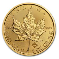 Moneda de Oro Maple Leaf 1 onza - Tubo de 10 - 2016 - Royal Canadian Mint
