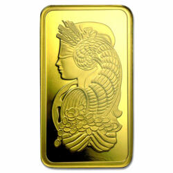 100 grams Fortuna Gold Bar - PAMP