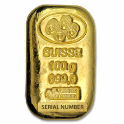 100 grams Cast Gold Bar - PAMP