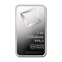 1 ounce  Palladium Bar - Valcambi