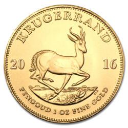 Moneta d'oro Krugerrand 1 oncia - Rotolo di 10 - 2016 - South African Mint