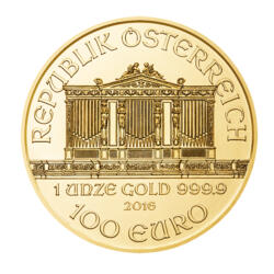 1 ounce Gold Philharmonic - Roll of 10 - 2016 - Austrian Mint