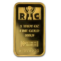 1 ounce  Gold Bar - Republic Metals Corporation