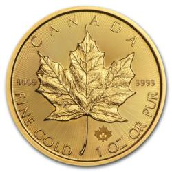 1 ounce Gold Maple Leaf - Roll of 10 - 2018 - Royal Canadian Mint