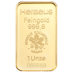 1 ounce  Gold Bar - Heraeus