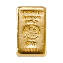 250 grams  Gold Bar - Heraeus