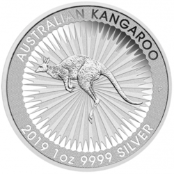 1 ounce Silver Kangaroo - Monster box of 250 - 2019 - Perth Mint