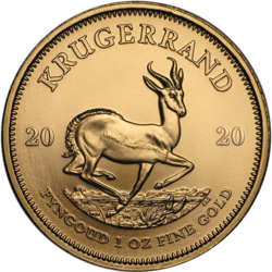 1 ounce Gold Krugerrand - Roll of 10 - 2020 - South African Mint