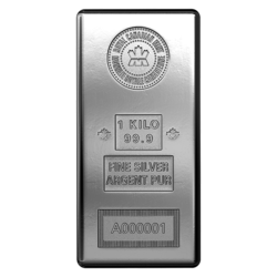 1 kilogram  Silver Bar - Royal Canadian Mint