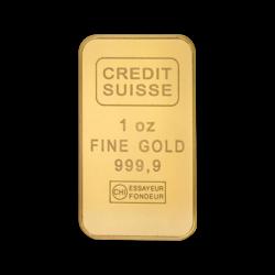 1 ounce  Gold Bar - Crédit Suisse