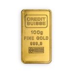 100 grams  Gold Bar - Crédit Suisse