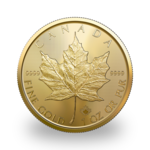 1 ounce Gold Maple Leaf - Roll of 10 - 2021 - Royal Canadian Mint