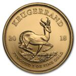 1 ounce Gold Krugerrand - Roll of 10 - 2018 - South African Mint