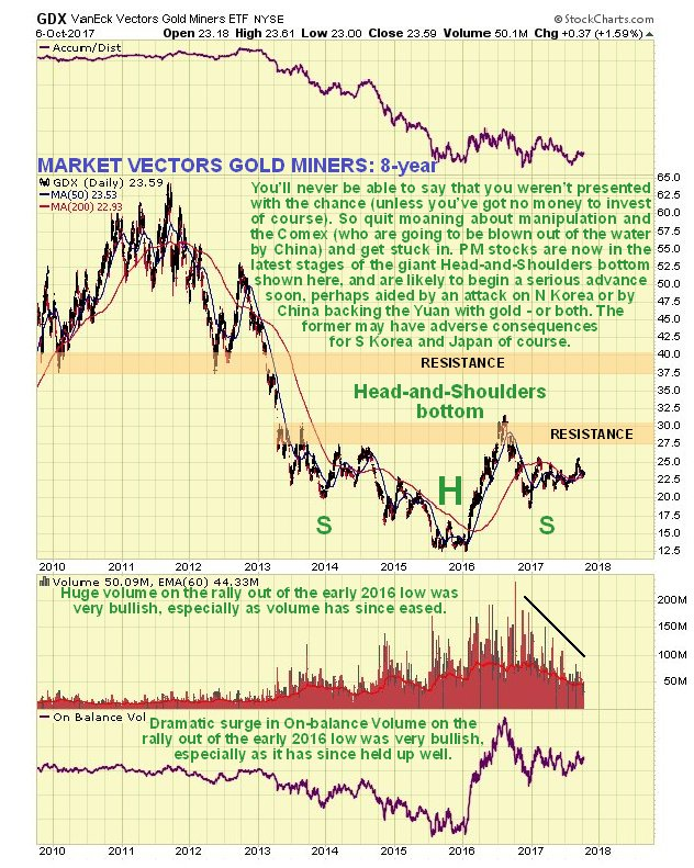 Market Vectors Gold Miners: 8 year